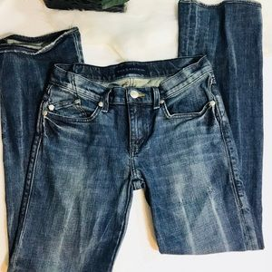 Rock  & republic distressed low rise jeans